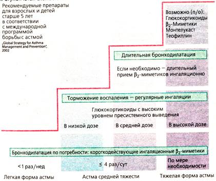Астма симптомы и схема
